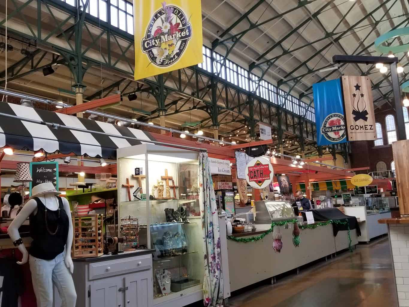 food shops inside City Market Indianapolis, Indiana