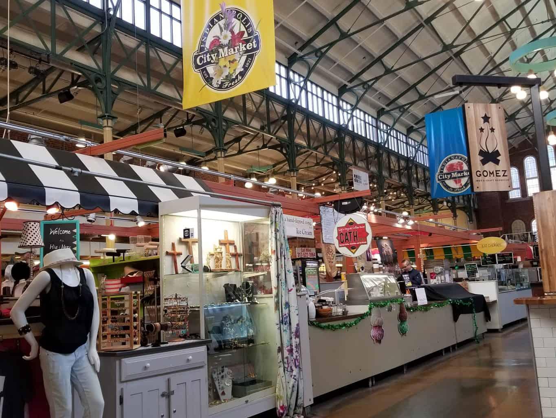 food shops inside City Market Indianapolis, Indiana