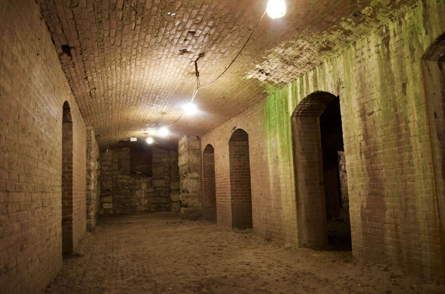 brick Catacombs tunnel Below Indianapolis, Indiana