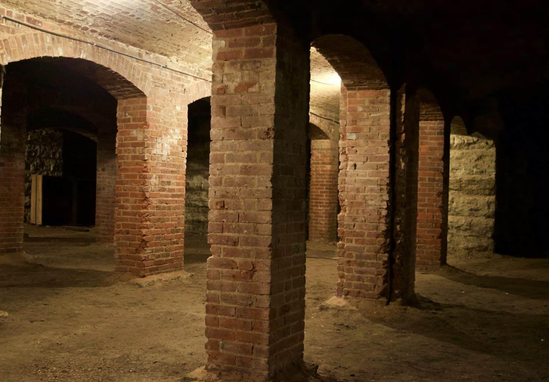 brick Catacombs tunnel Below Indianapolis, Indiana