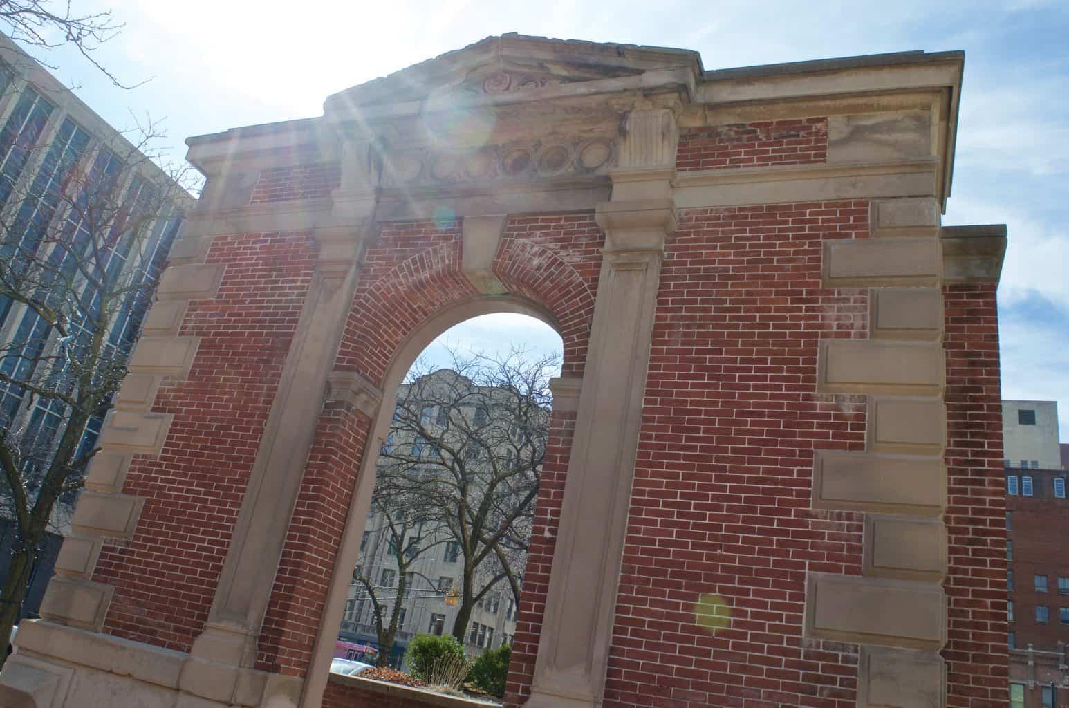 historic brick wall at City Market Indianapolis, Indiana