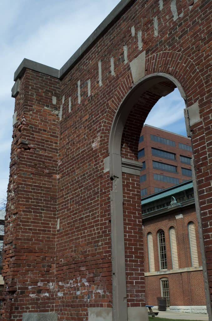 historic brick arch wall Indianapolis, Indiana