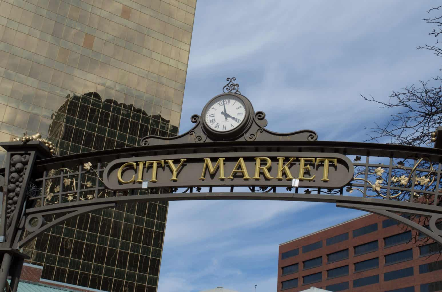 City Market Sign in Indianapolis, Indiana