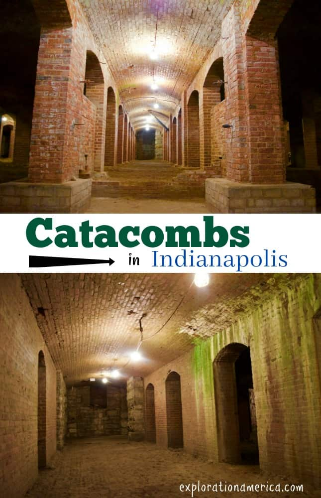 historic red brick tunnels under Indianapolis