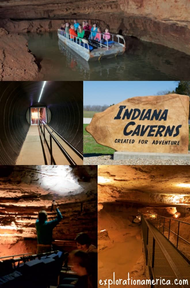 Indiana Caverns cave collage
