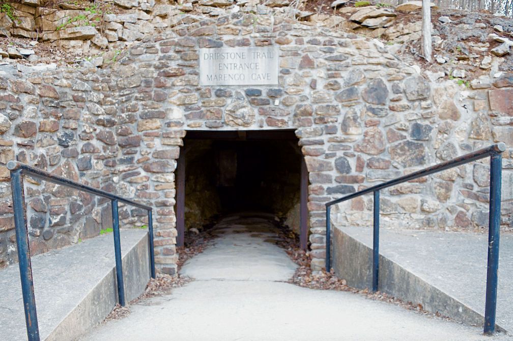 Cave entrance at Marengo National Landmark