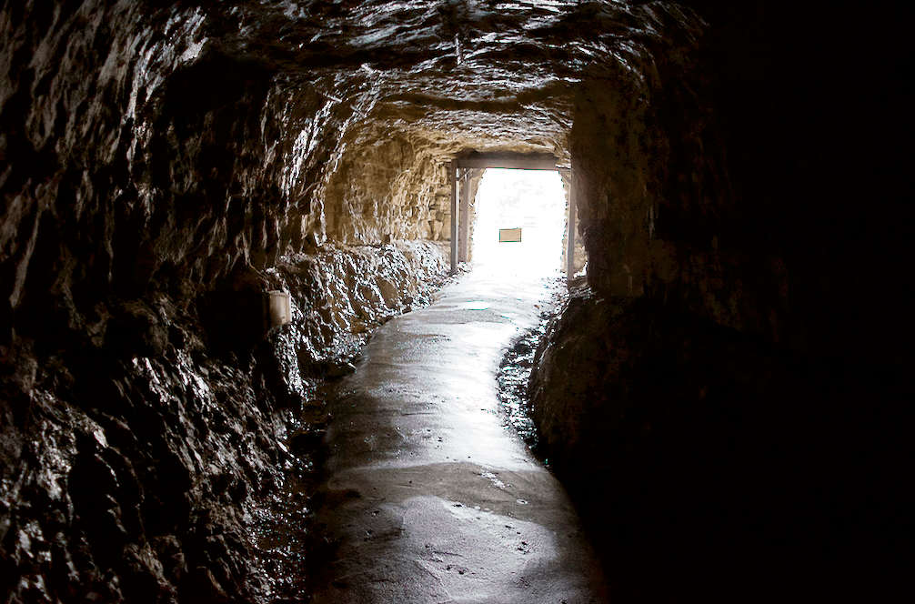 nature trail into cave entrance at Marengo