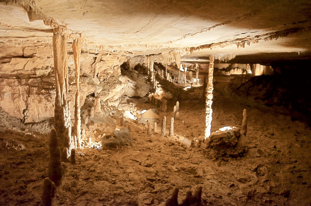 path inside of Marengo Cave National Landmark