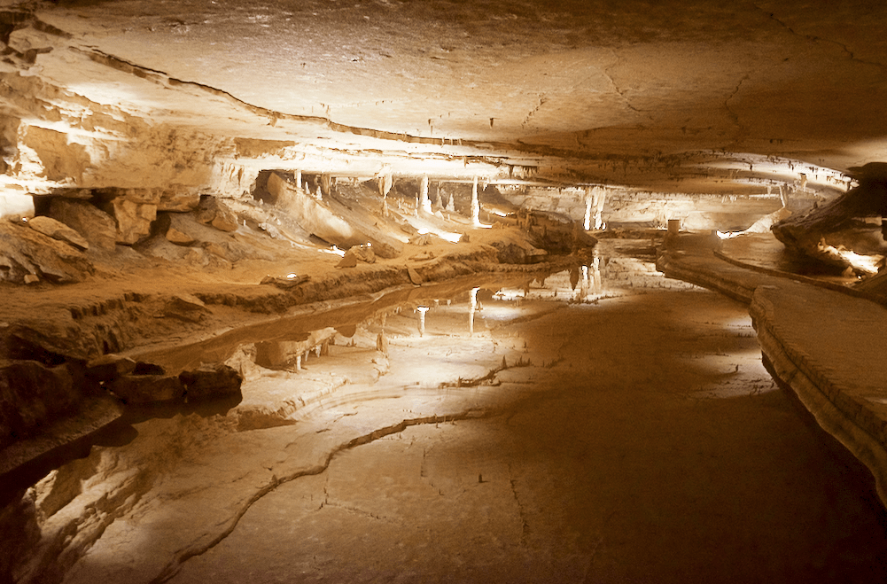 lake inside of Marengo Cave Indiana