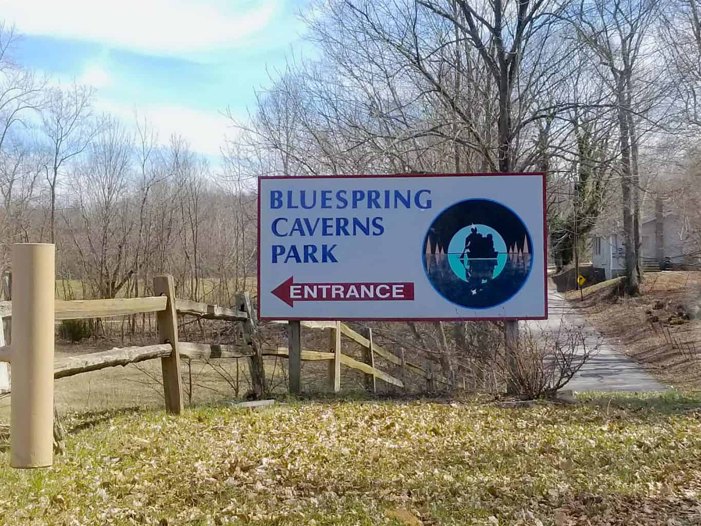 Bluespring Caverns Park entrance