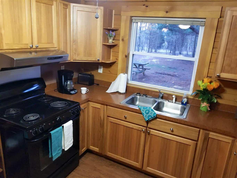 Kitchen in Buffalo Trace Park cabin