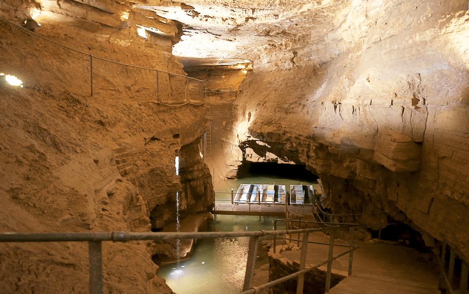 Underground Indiana: Riding on a Boat Through Bluespring Caverns
