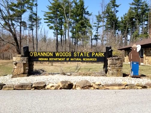 O'Bannon Woods State Park Indiana sign