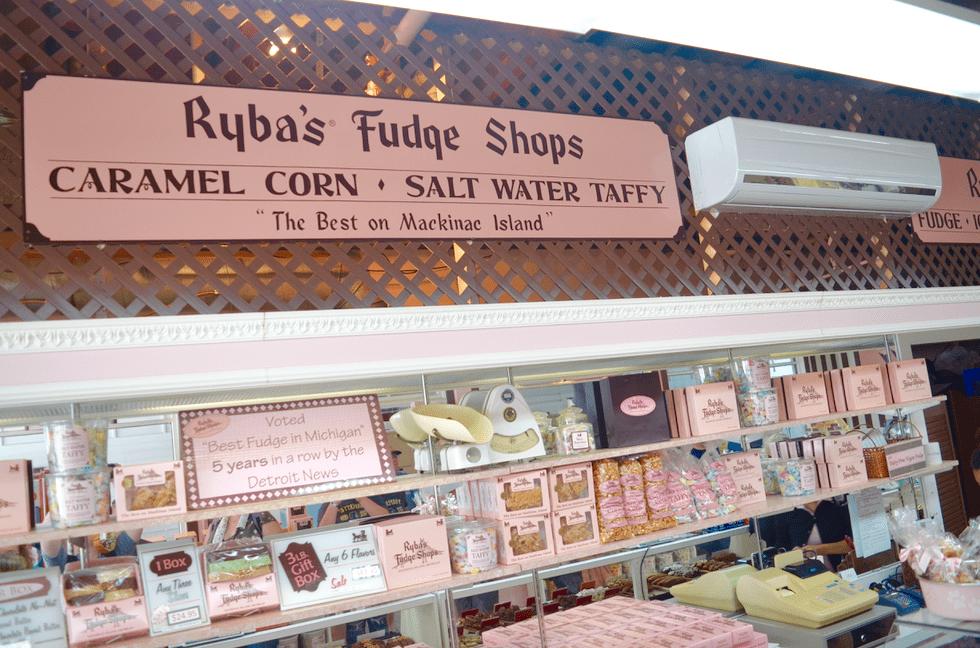 Ryba's Fudge Shop on Mackinac Island Michigan