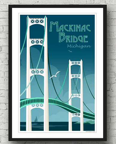 Mackinac Bridge Home Decor
