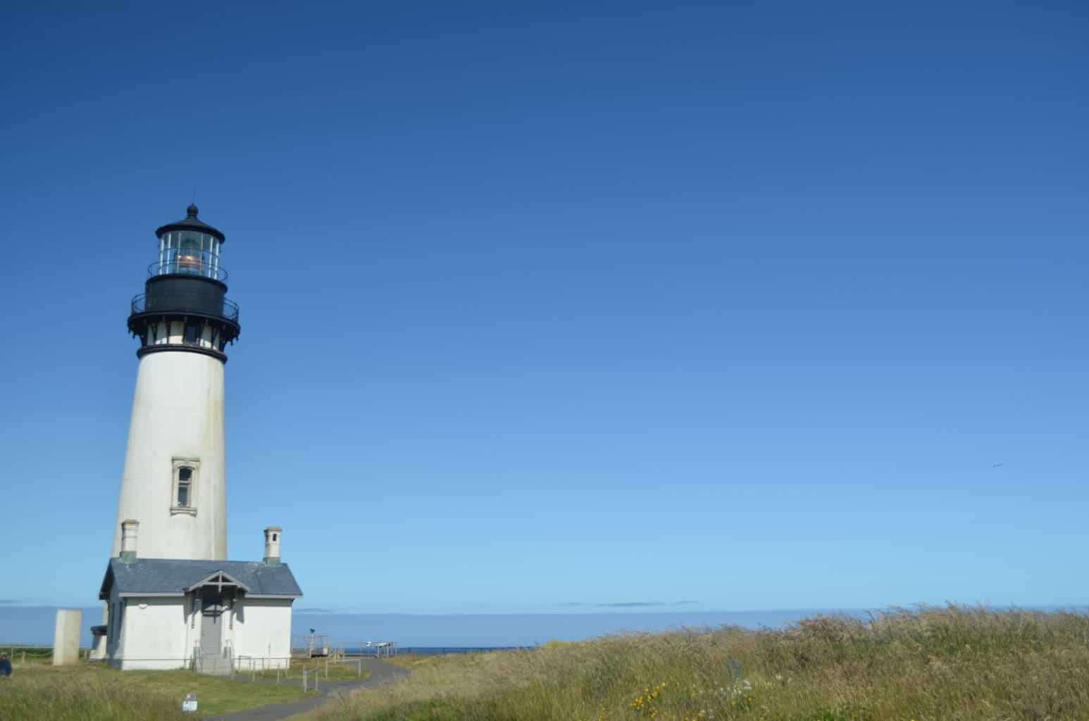 Yaquina Lighthouse on Oregon Coast