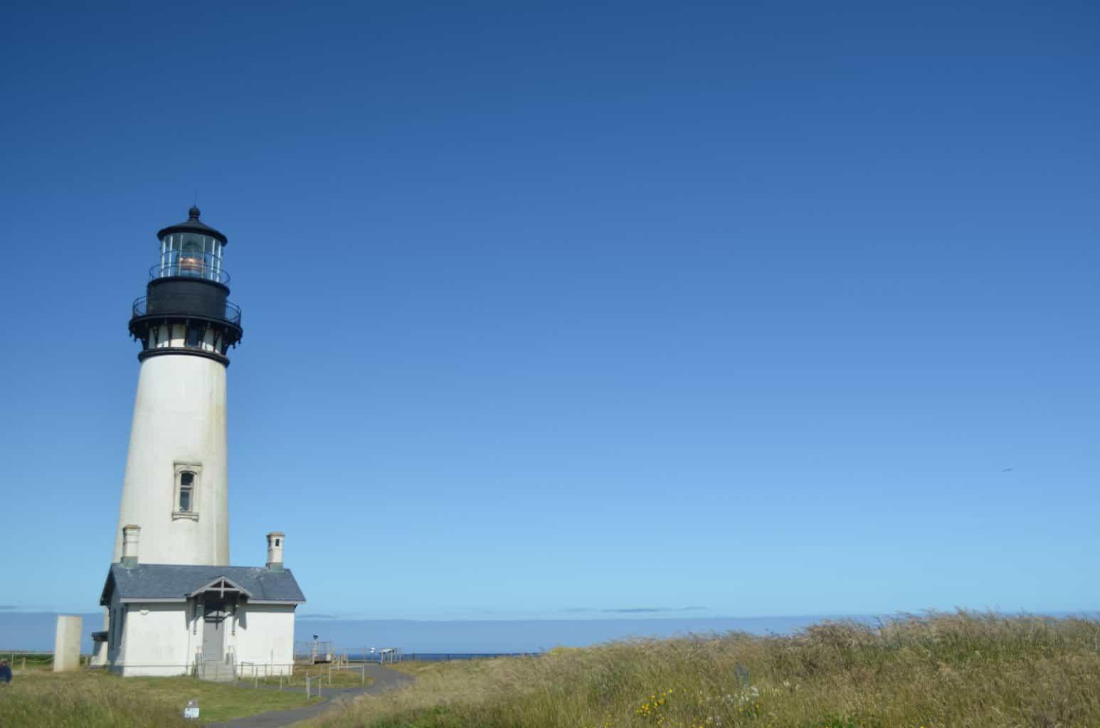 Yaquina Lighthouse on Oregon Coast