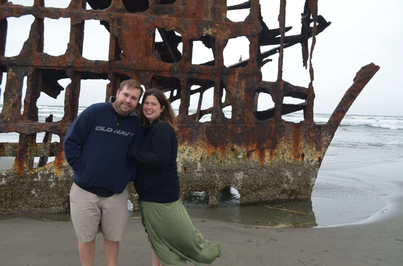 Peter Iredale shipwreck in Oregon coast