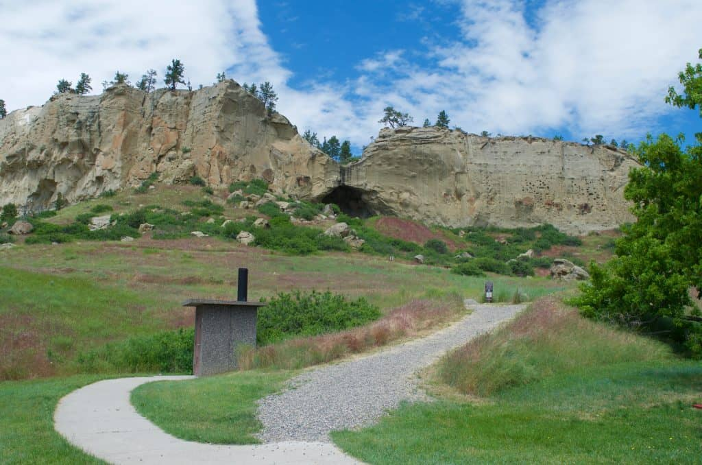 trail at Pictograph State Park Billings Montana