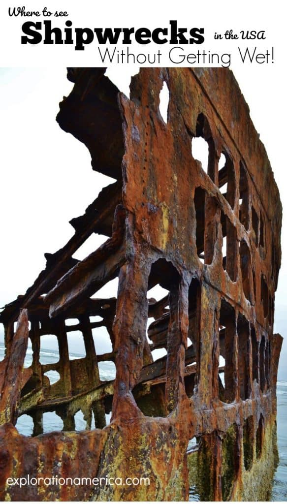 rusty Peter Iredale shipwreck