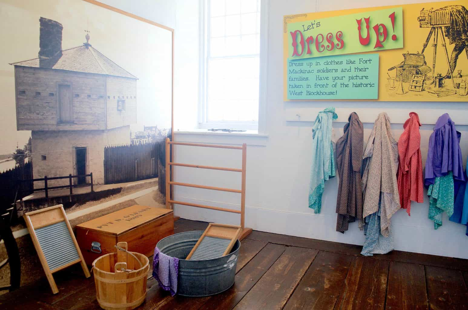 Fort Mackinac Kid's Dress Up Quarters
