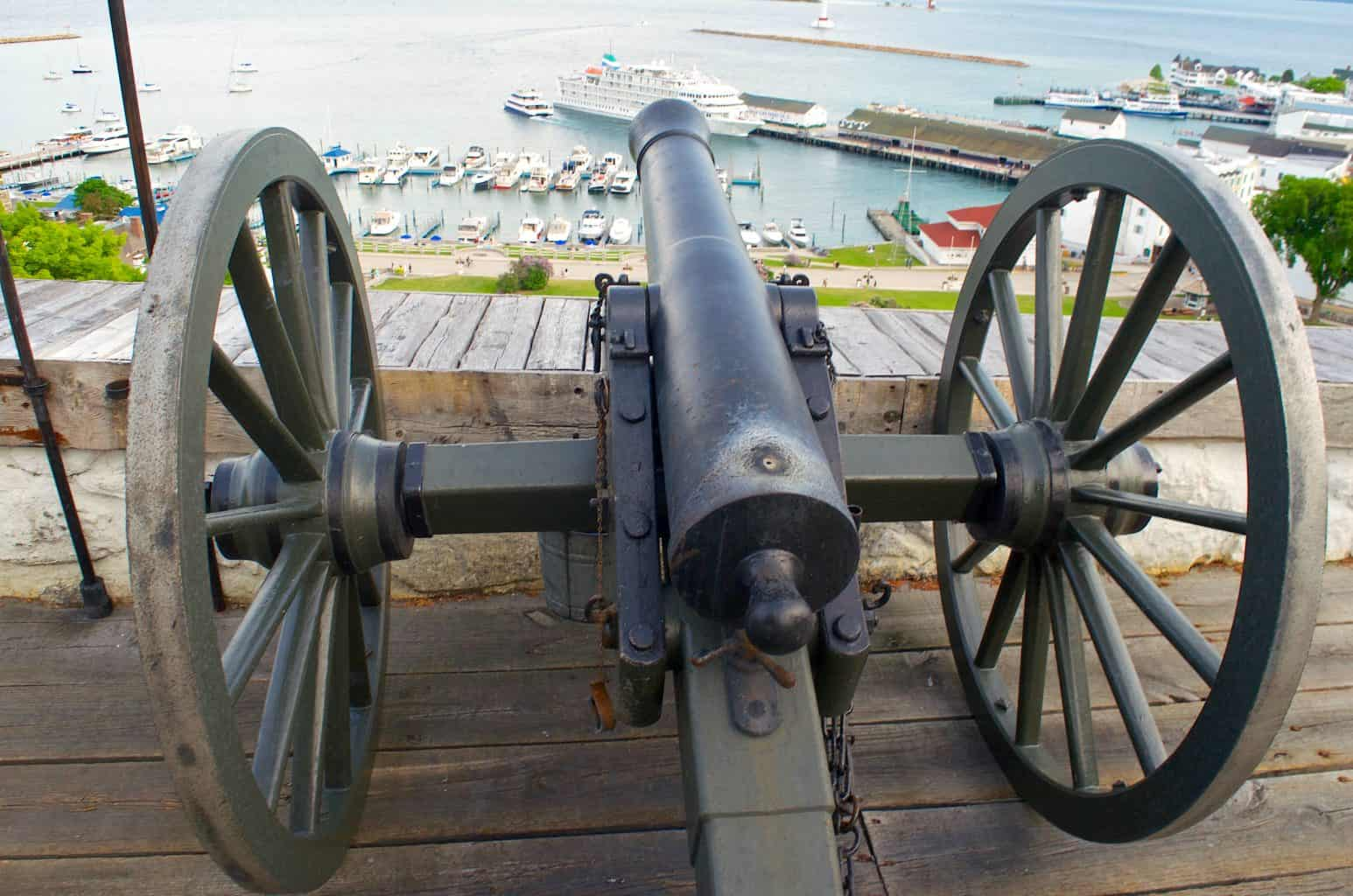 Fort Mackinac Michigan cannon