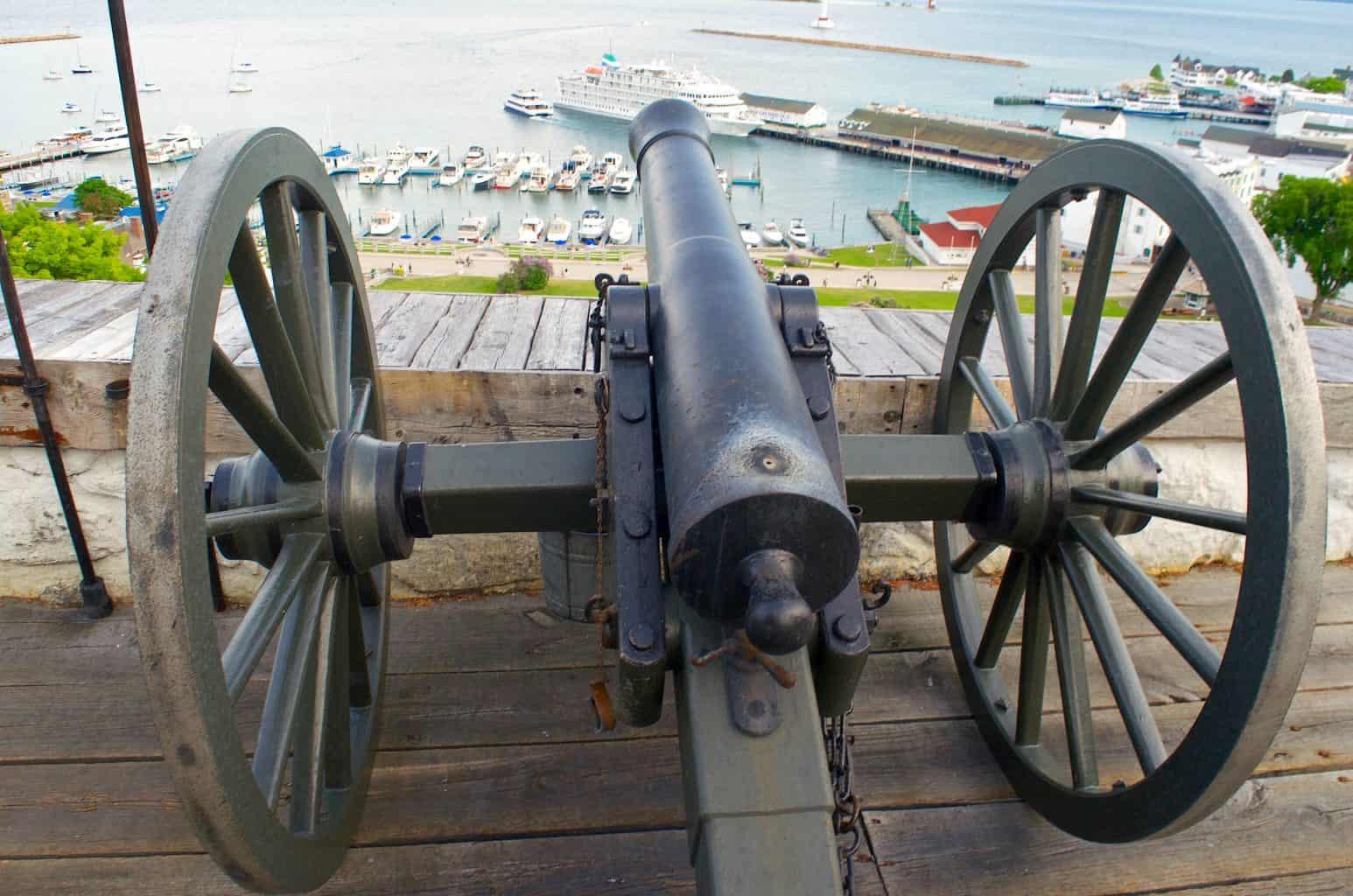 Fort Mackinac Michigan cannon
