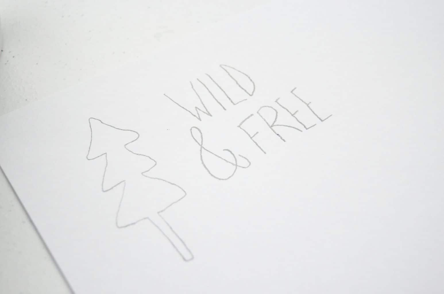 Wild & Free pencil drawing art