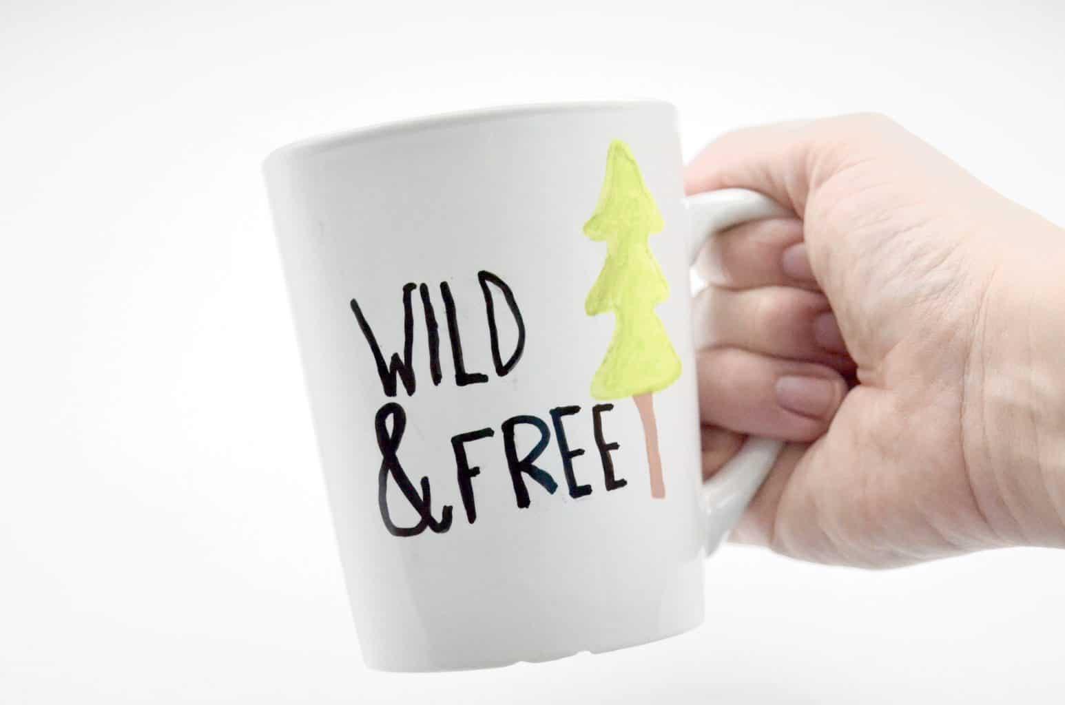 Wild & Free tree travel mug