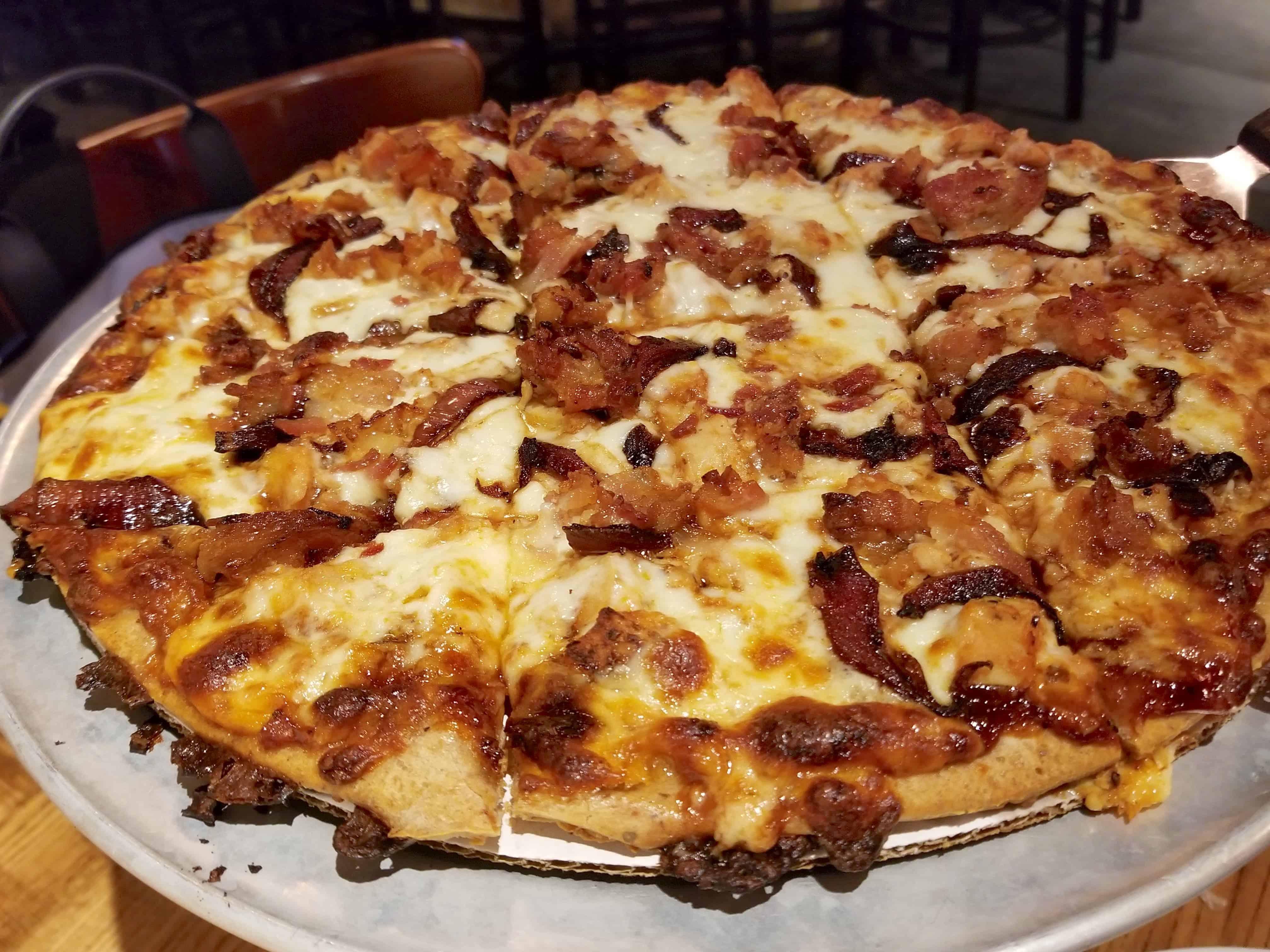 Gluten free pizza at Giordano's Detroit
