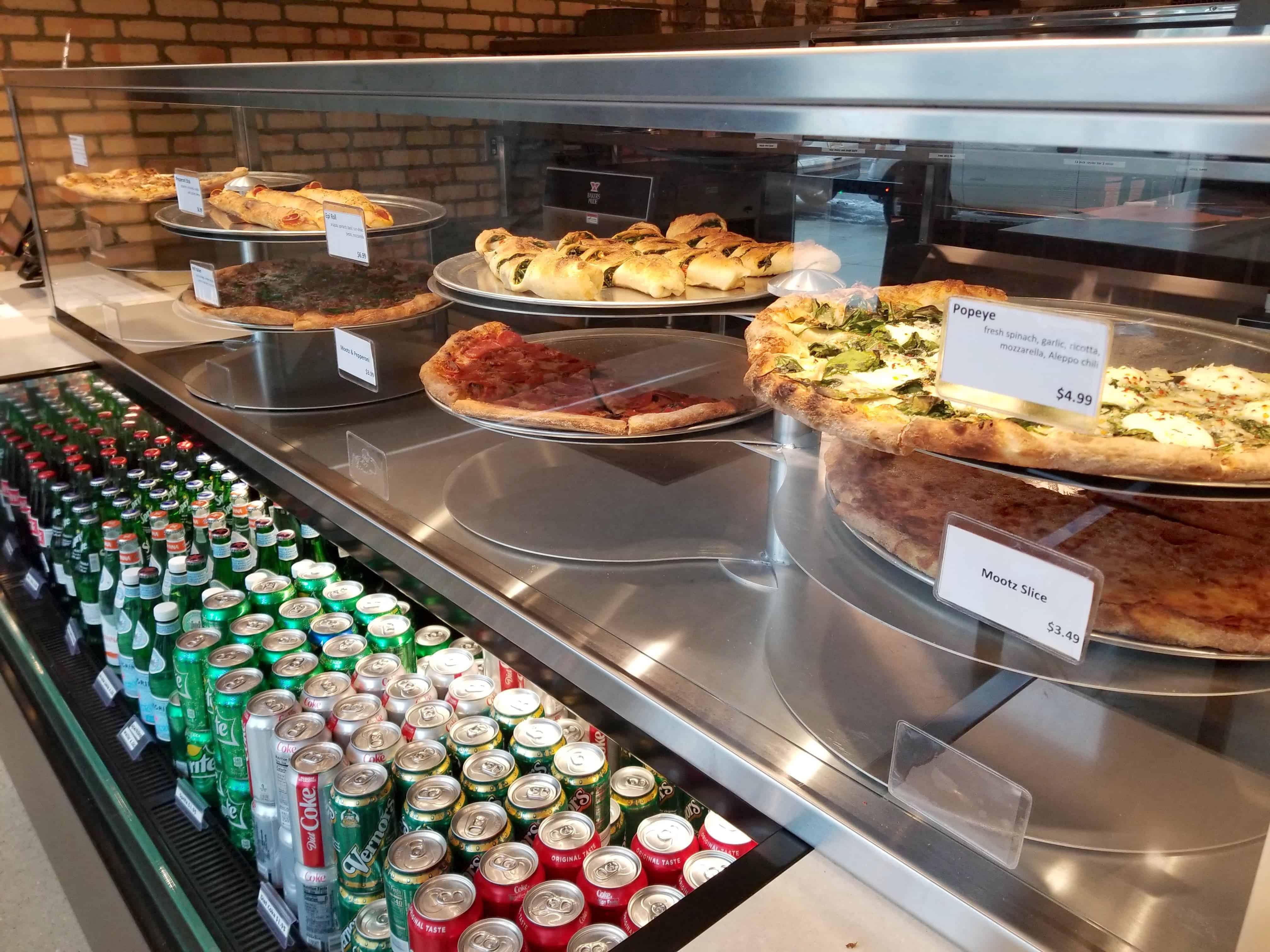 pizza at Mootz Detroit
