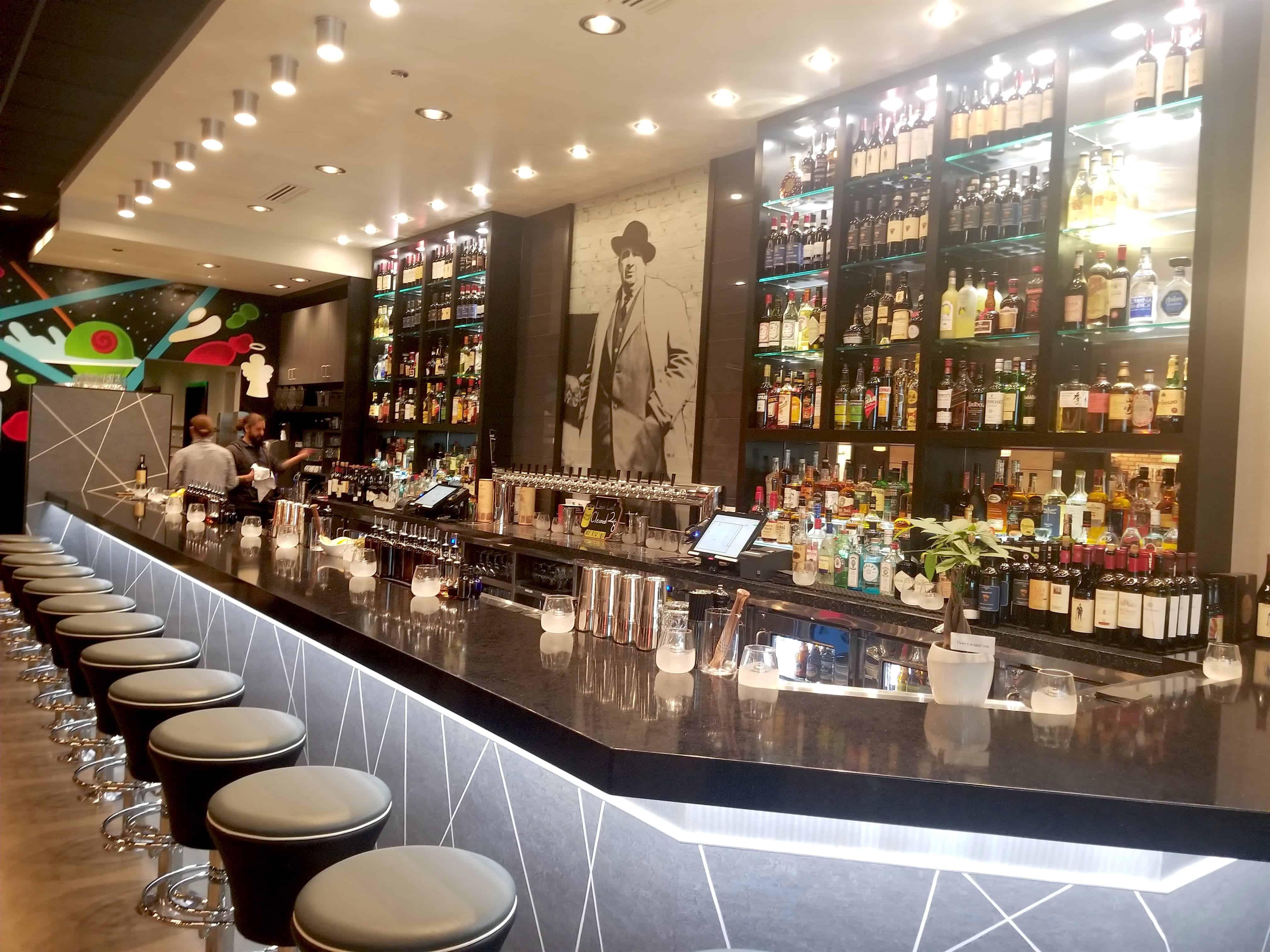 bar at Mootz restaurant Detroit