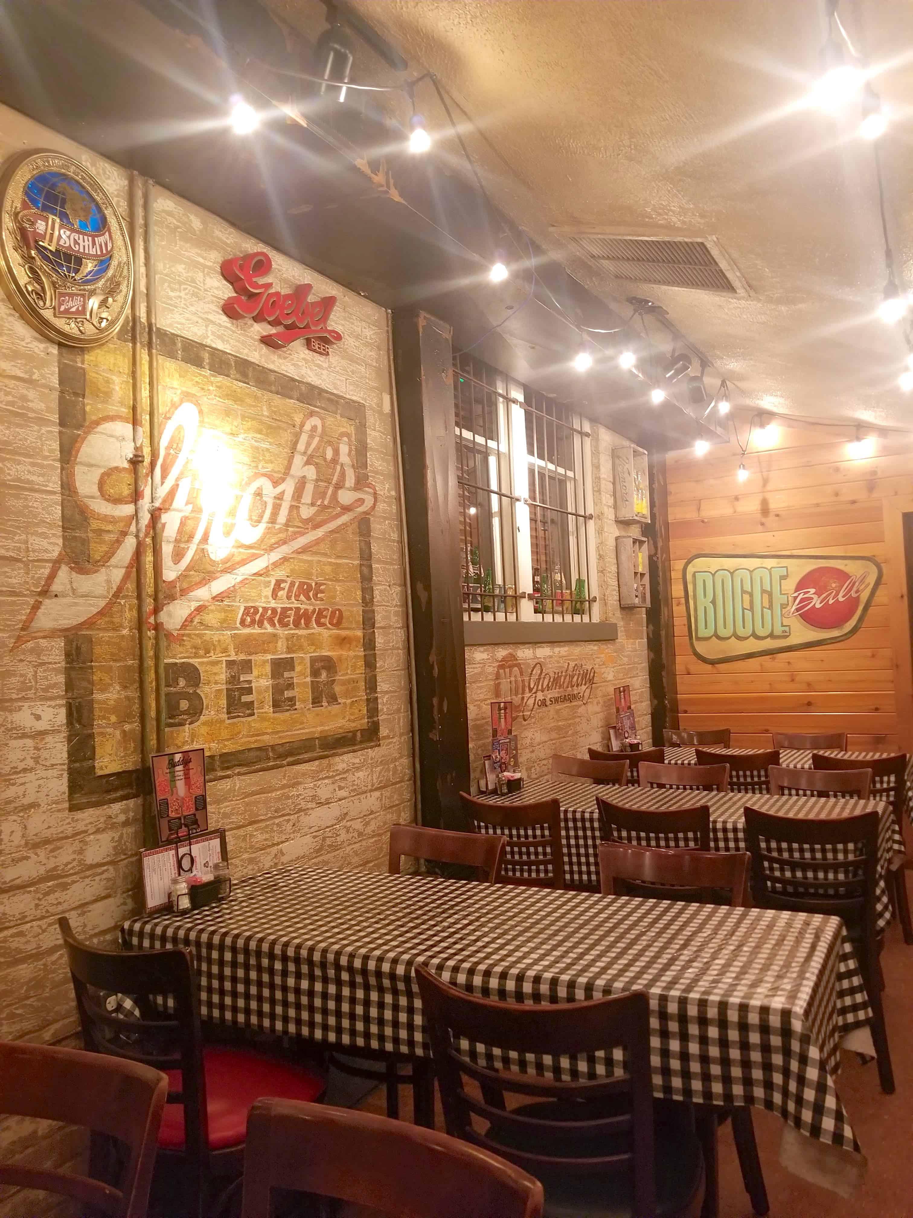 Buddy's restaurant decor Detroit
