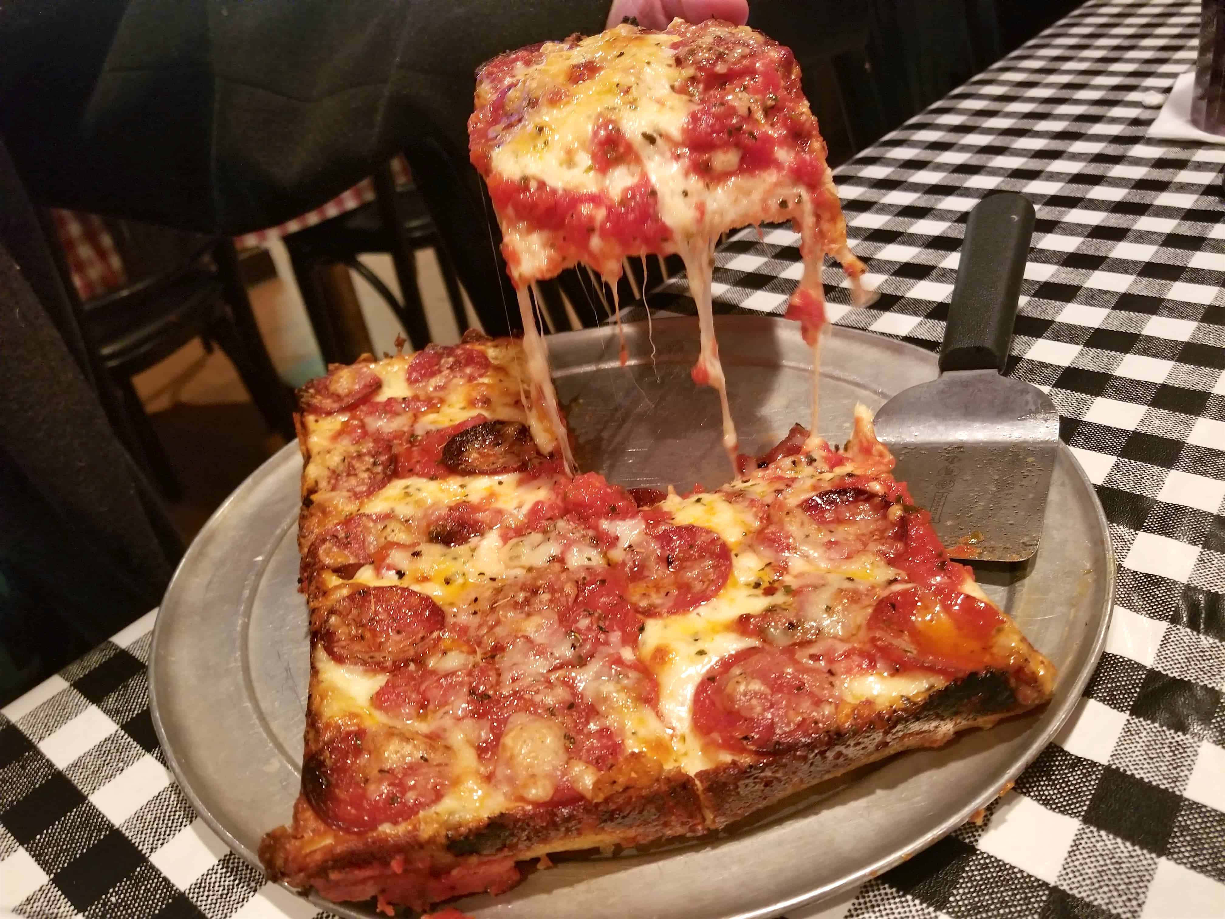 Detroit square pizza at Buddy's