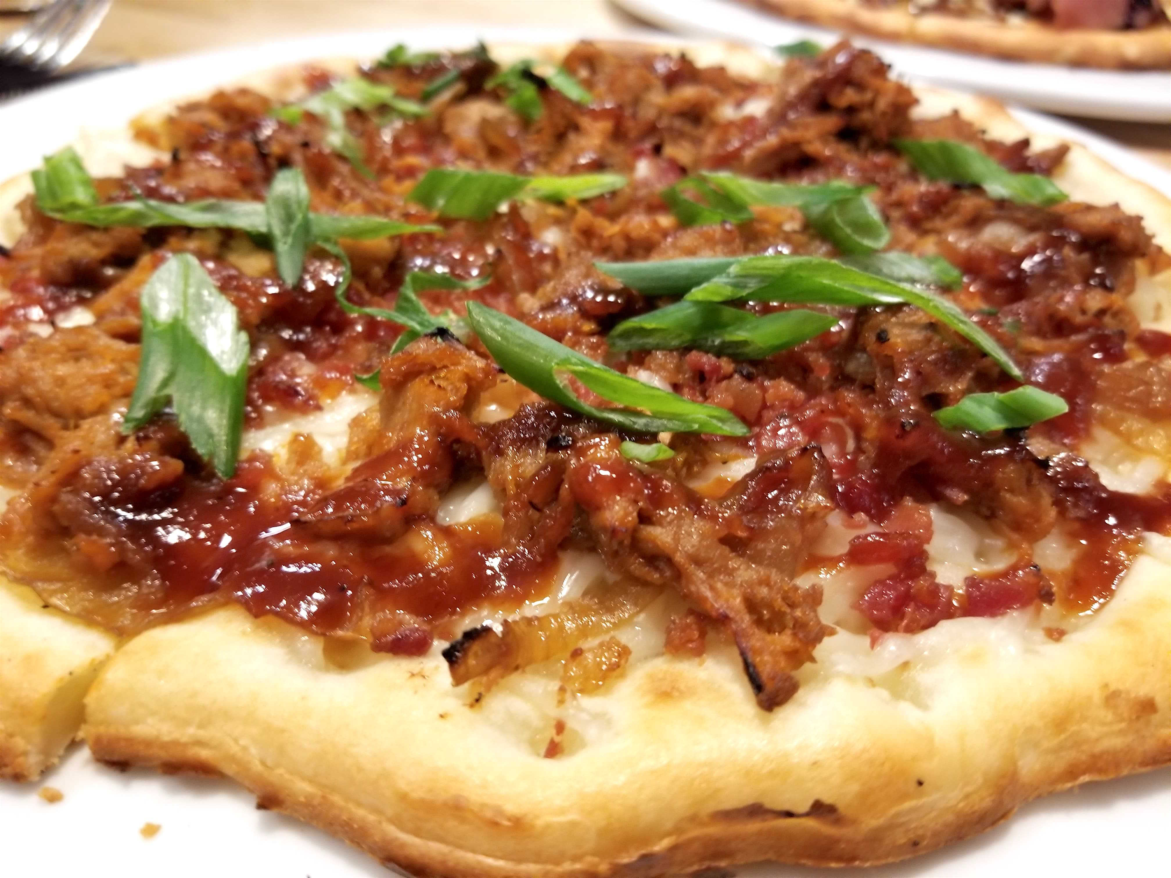 BBQ meat pizza Mootz gluten free dairy free