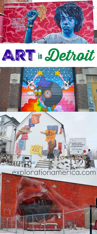 art murals in Detroit Michigan