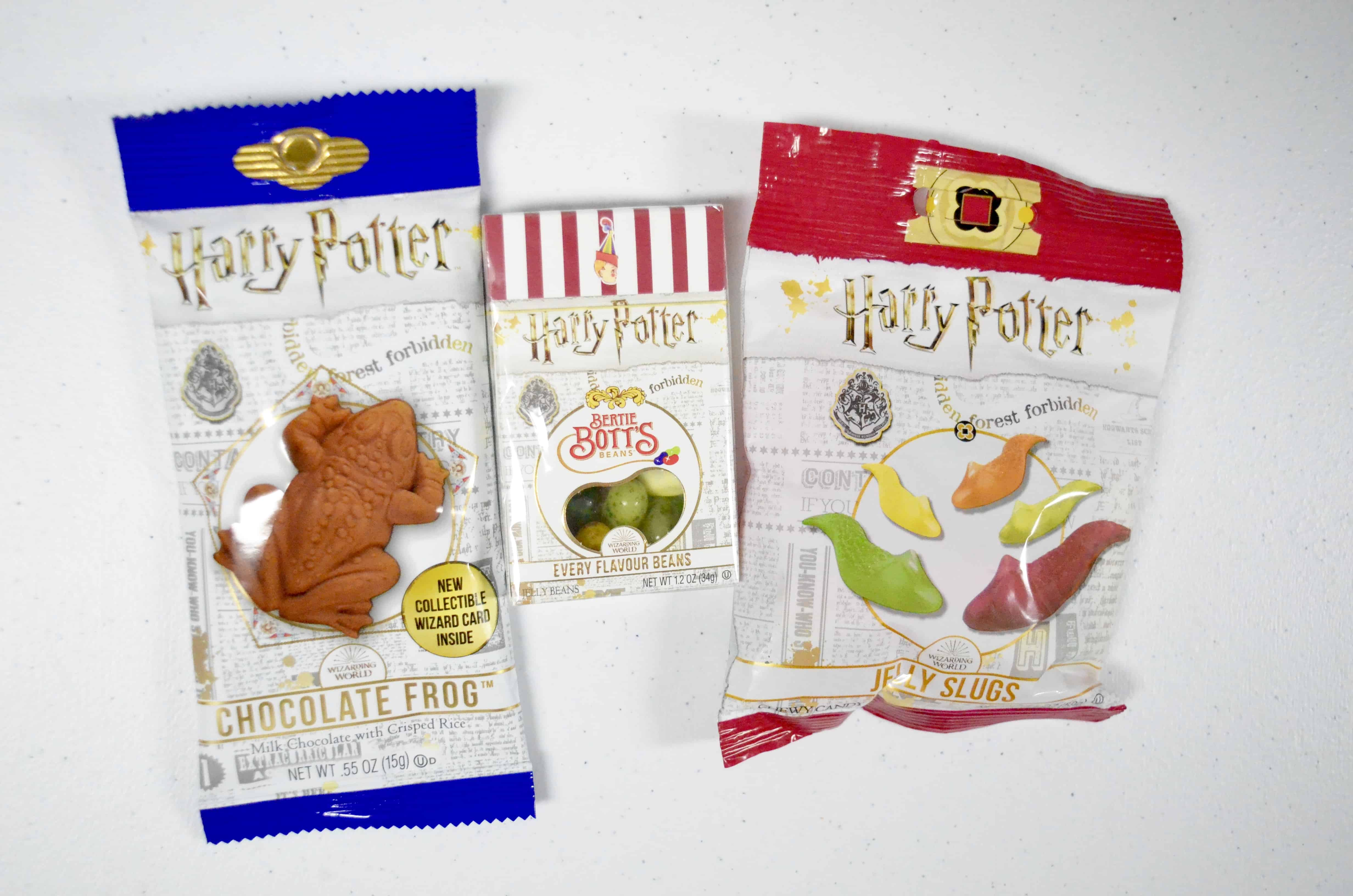 harry potter chocolate frog jelly slugs beans