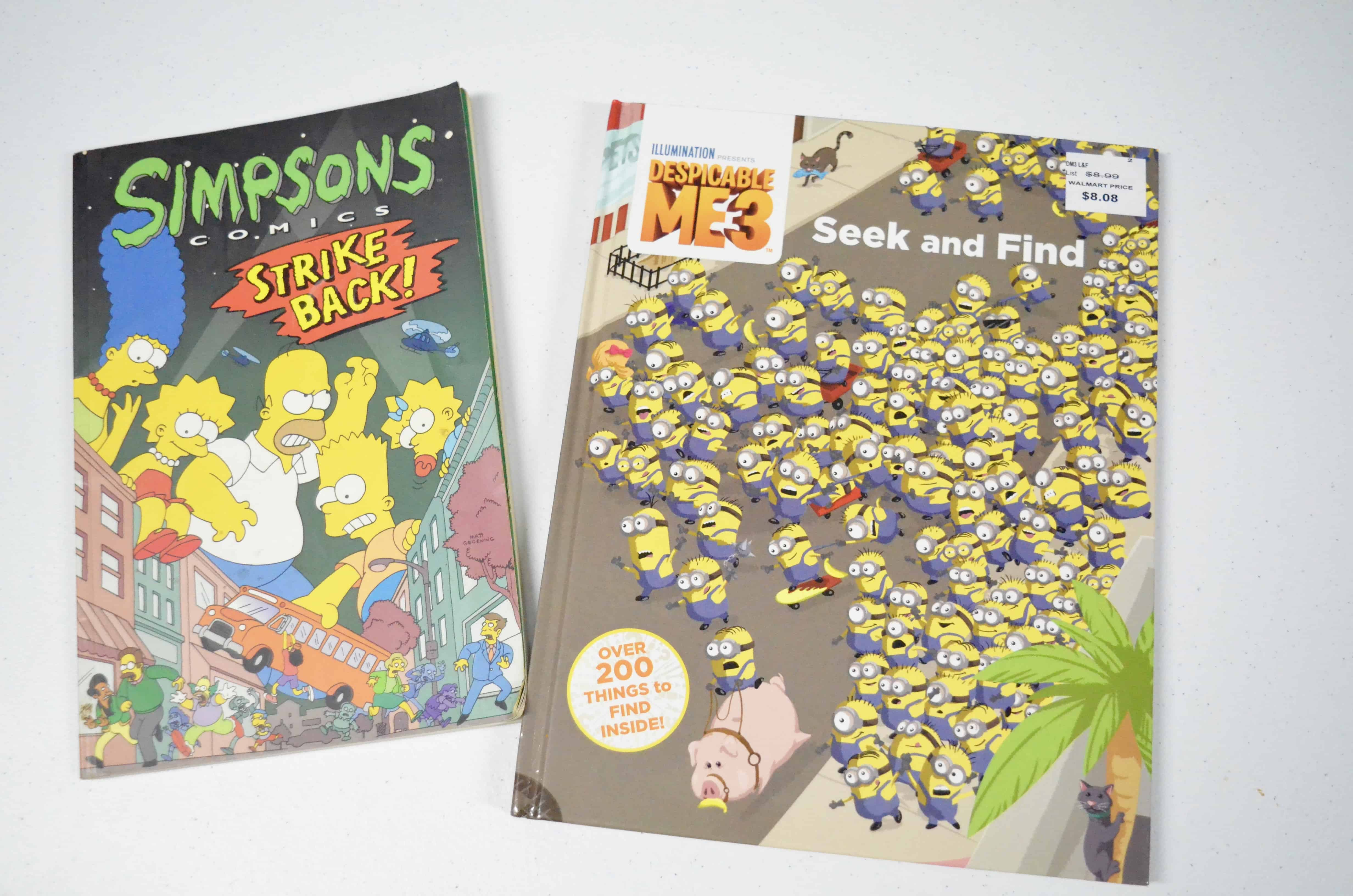 Simpson comic book Minions I spy