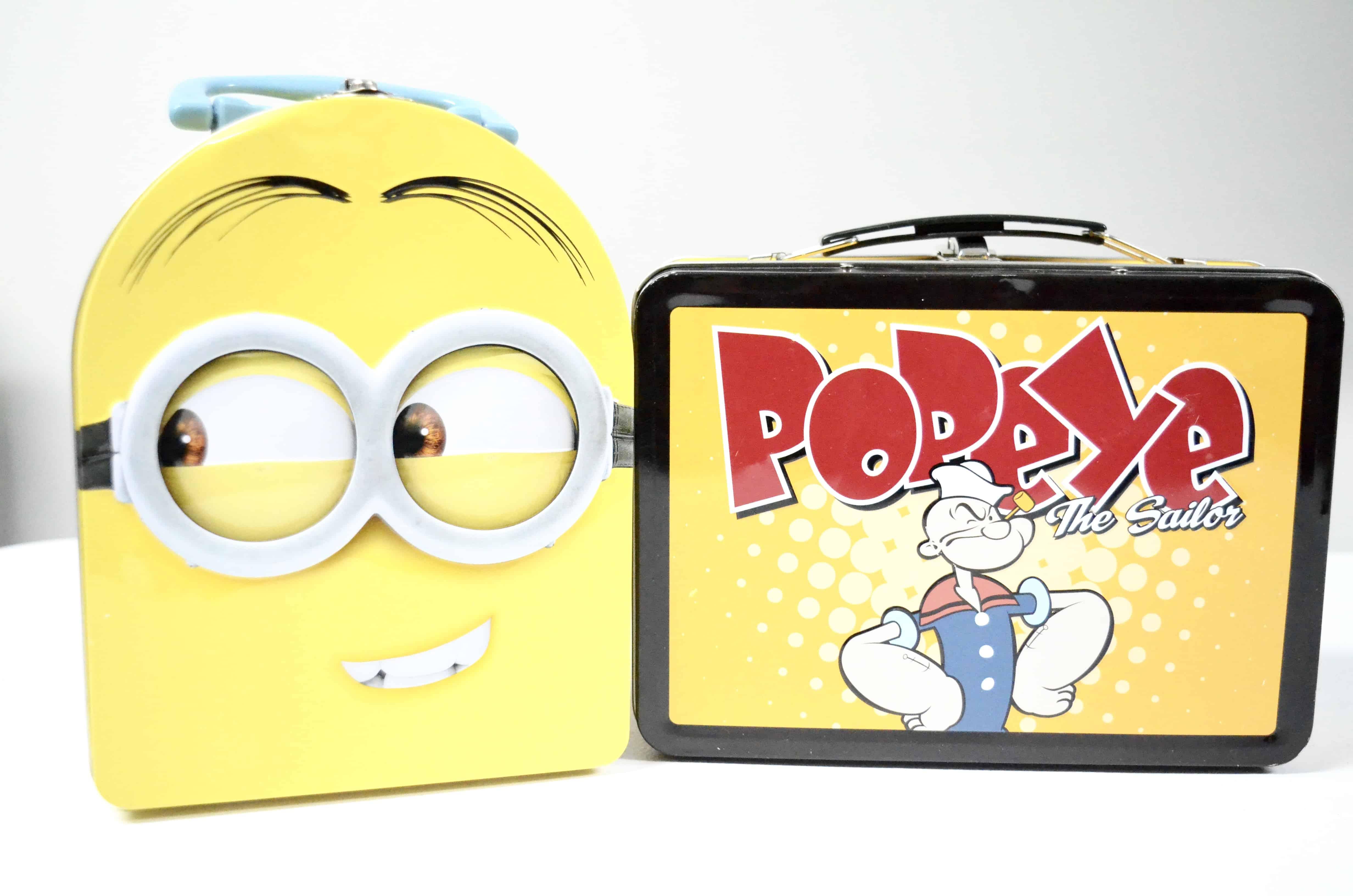 minions popeye lunch tin