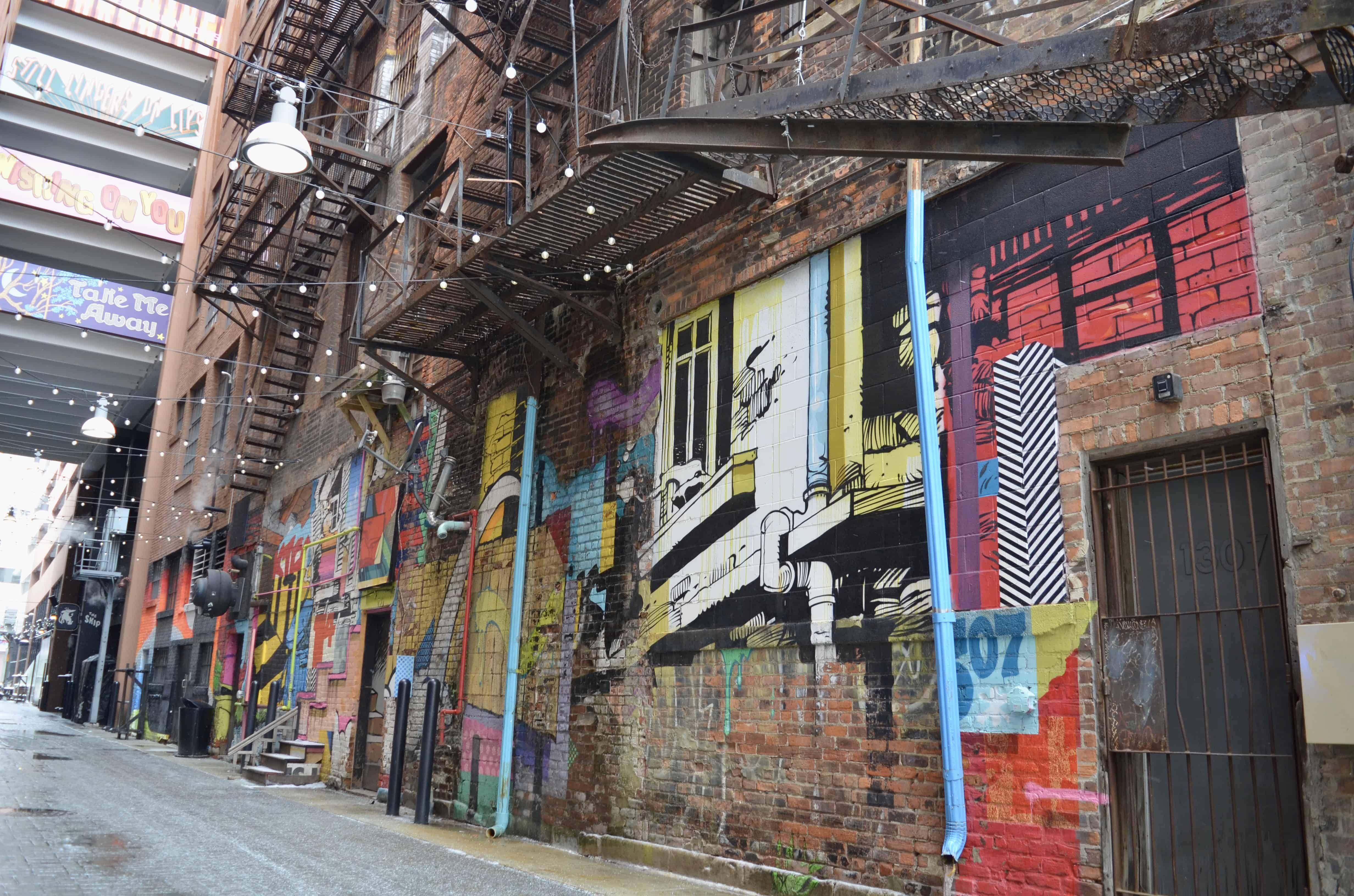 Belt Art Alley in Detroit Michigan