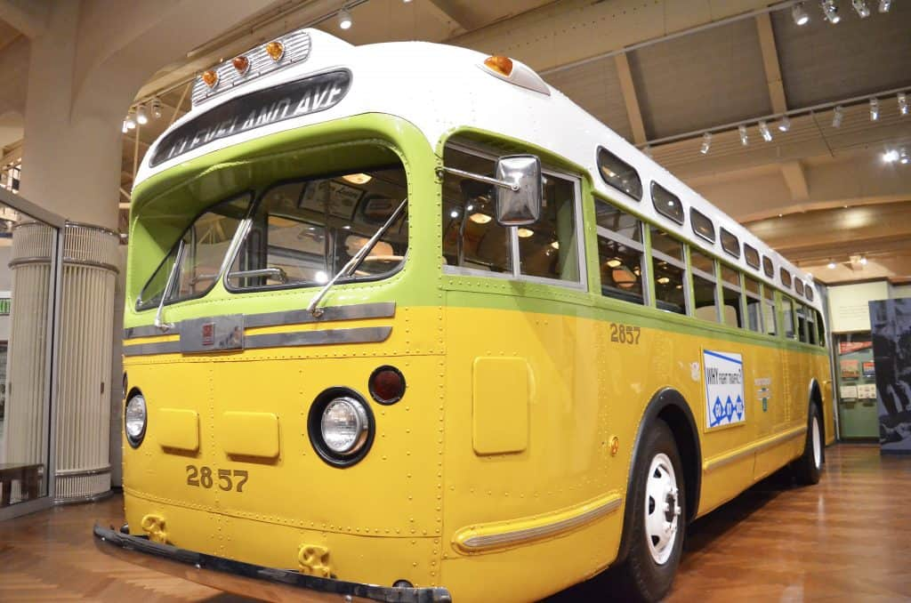 yellow Montgomery Rosa Parks Bus