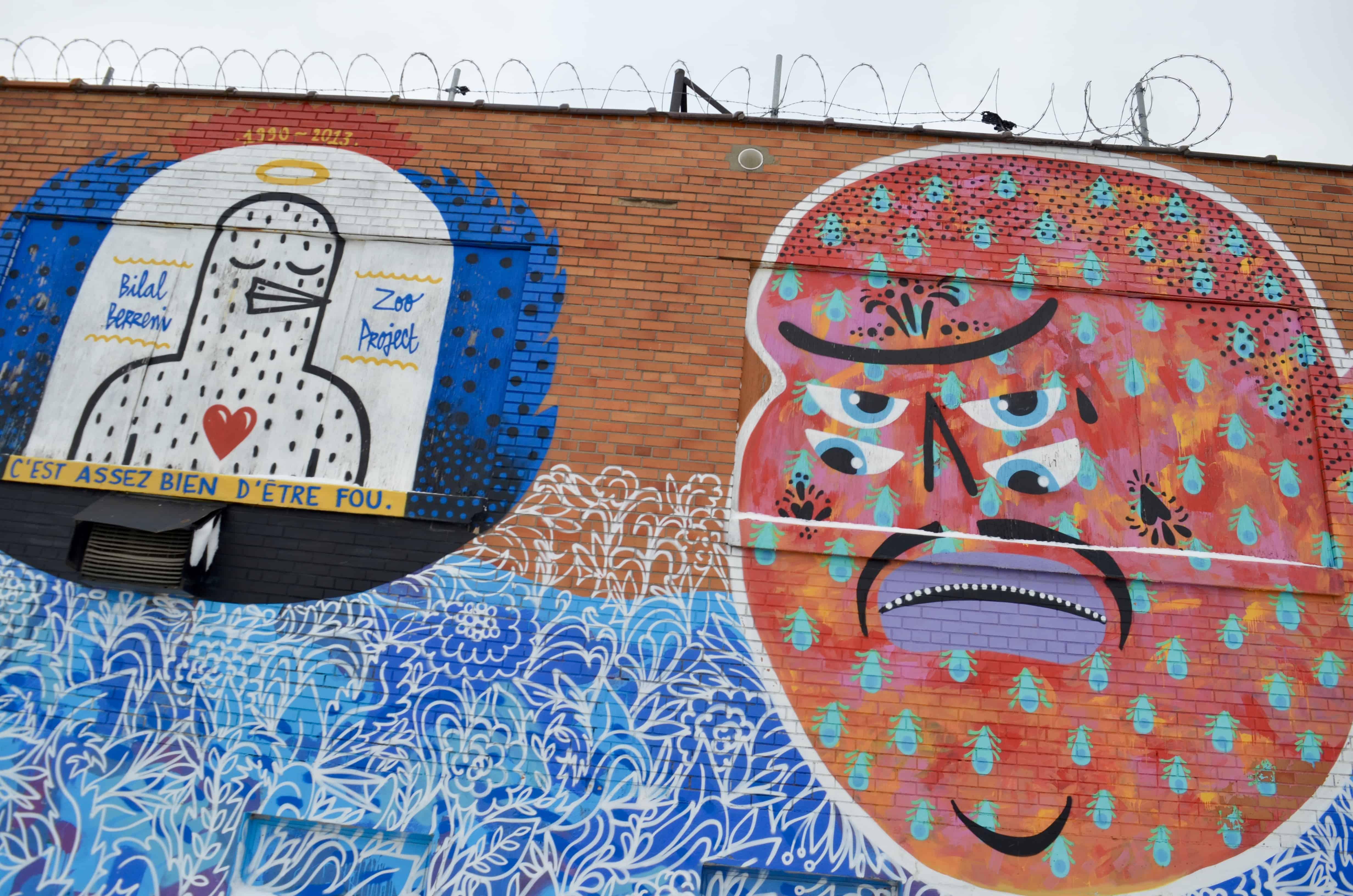 odd art mural street art detroit