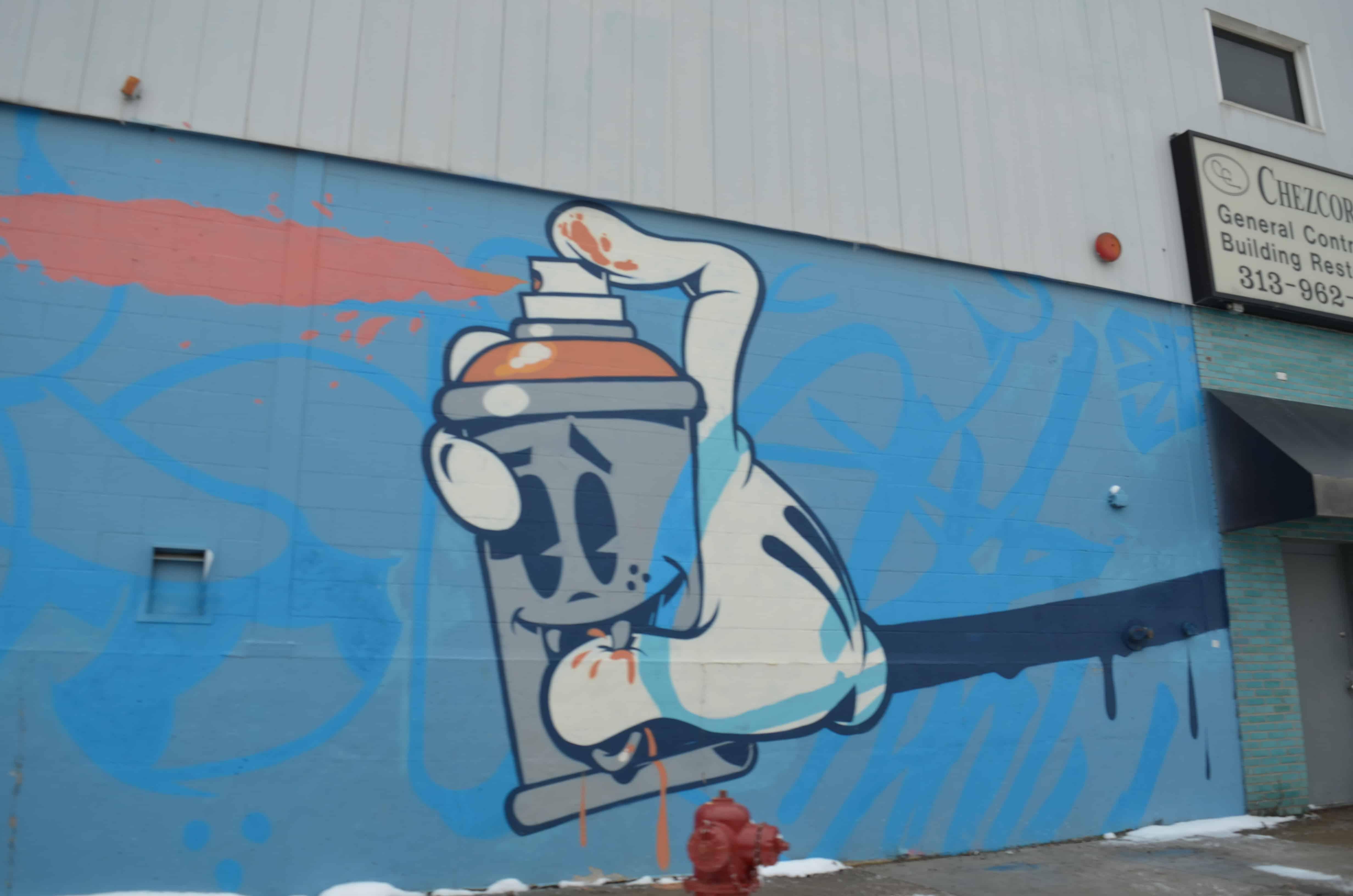 street art spray paint mural Detroit