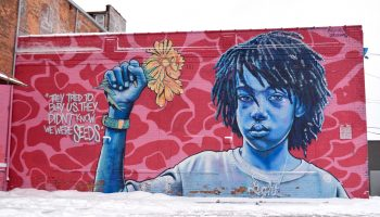 girl and seeds inspire art mural detroit