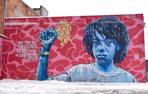 Beautiful Art Murals of Detroit, Michigan and Eastern Market