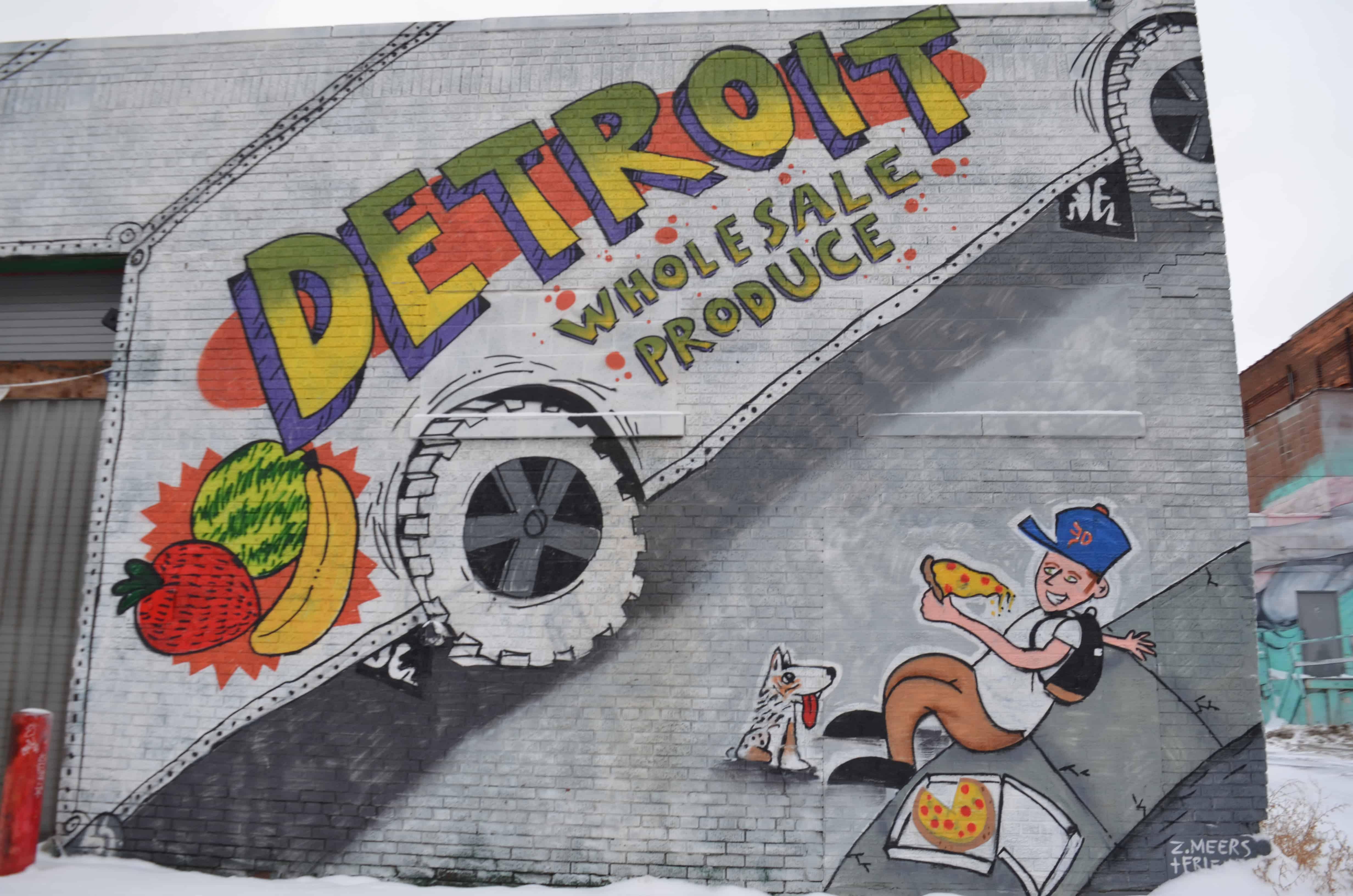 Detroit wholesale produce street art mural