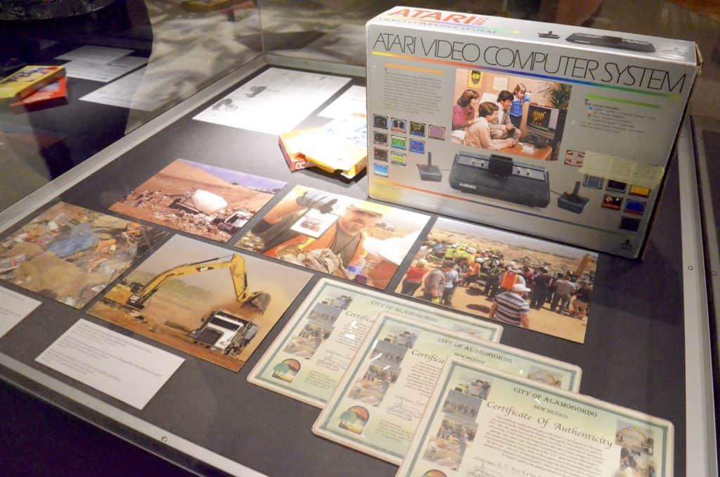 original Atari Games from dig site