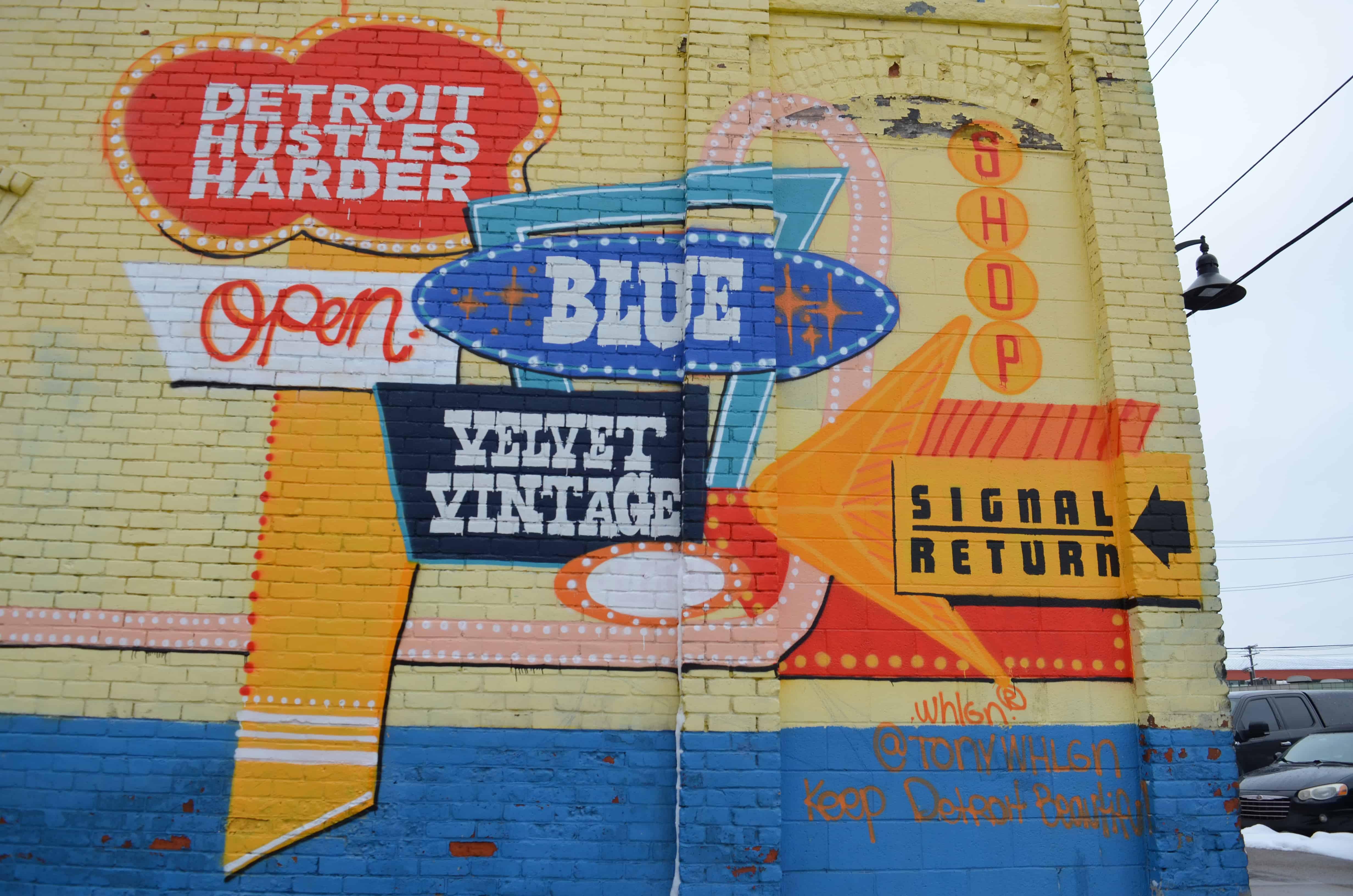 street art mural Detroit