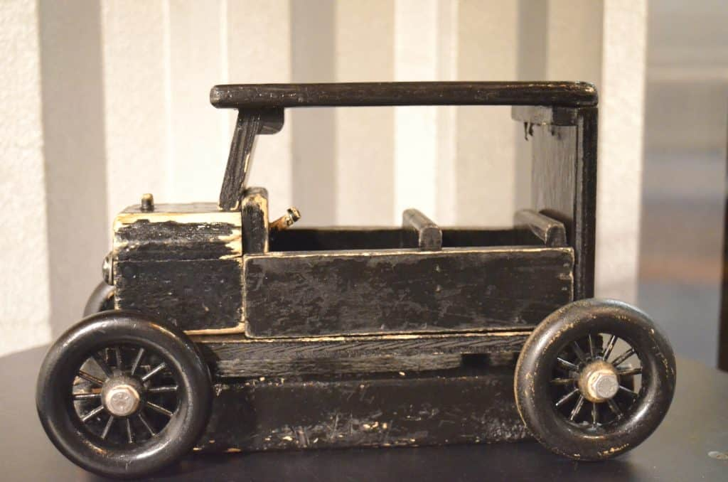 black wooden Model T Ford car
