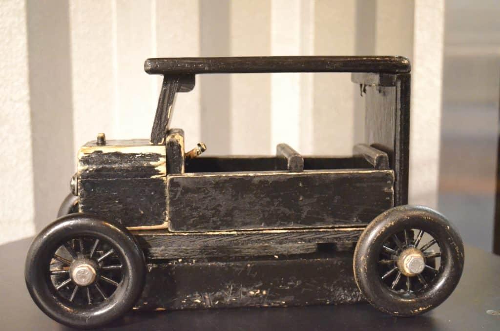 black wooden Model T Ford car